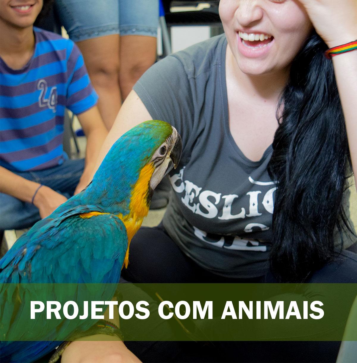 PROJETOS COM ANIMAIS palestra com animais silvestres e exóticos 1
